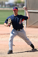 Chris Jones #45 of the Cleveland Indians plays in a minor league spring training game at the White Sox complex on March 24, 2011 in Glendale, Arizona. .Photo by:  Bill Mitchell/Four Seam Images.