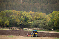 JCB Fastrac ploughing in North Yorkshire <br /> &copy;Tim Scrivener Photographer 07850 303986<br /> ....Covering Agriculture In The UK....