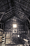 USA, Oregon, Enterprise, interior of a barn at the Snyder Ranch