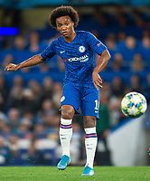 Chelsea's William during the UEFA Champions League match between Chelsea and Valencia  at Stamford Bridge, London, England on 17 September 2019. Photo by Andrew Aleksiejczuk / PRiME Media Images.
