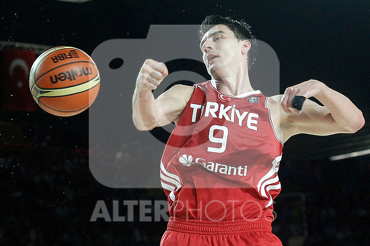 Turkey's Emir Preldzic during 2014 FIBA Basketball World Cup Group Phase-Group C match.September 2,2014.(ALTERPHOTOS/Acero)
