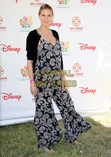 HEIDI KLUM .Elizabeth Glaser Pediatric AIDS Foundation 20th Annual A Time For Heroes Celebrity Carnival held at Wadsworth Theater, Los Angeles, CA, USA, 6th June, 2009..full length black paisley print catsuit jumpsuit cardigan pregnant maternity wear .CAP/ADM/KB.©Kevan Brooks/Admedia/Capital Pictures