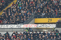 Eintracht Fans legen sich weiter mit Innenminister Peter Beuth an - 02.03.2019: Eintracht Frankfurt vs. TSG 1899 Hoffenheim, Commerzbank Arena, 24. Spieltag Bundesliga, DISCLAIMER: DFL regulations prohibit any use of photographs as image sequences and/or quasi-video.