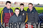 Donal O'Sullivan, Mark Fitzgerald, Mark O'Shea and James McAuliffe (Killarney) pictured at the Dr Crokes v Castlebar All Ireland semi-final in Portlaoise on Saturday last.