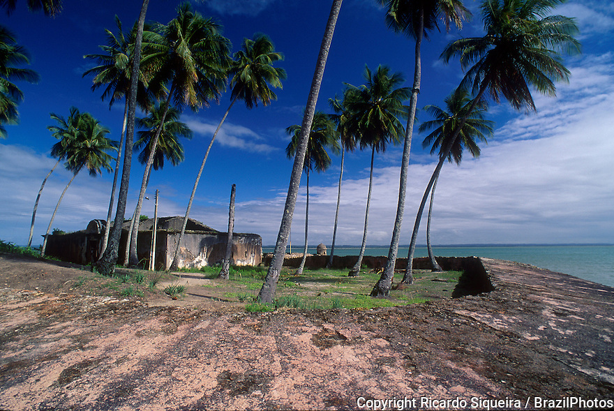 Forte da Ponta Fortress at Morro de Sao Paulo ( St. Paul's Hill ), a village of the island Tinhare in the municipality of Cairu, Bahia State, northeastern Brazil.
