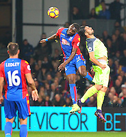 Christian Benteke and Dejan Lovren  during the EPL - Premier League match between Crystal Palace and Liverpool at Selhurst Park, London, England on 29 October 2016. Photo by Steve McCarthy.