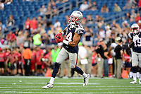 Thursday August 11, 2016: New England Patriots wide receiver Chris Harper (14) prepares for an NFL pre-season game between the New Orleans Saints and the New England Patriots held at Gillette Stadium in Foxborough Massachusetts. The Patriots defeat the Saints 34-22 in regulation time. Eric Canha/CSM