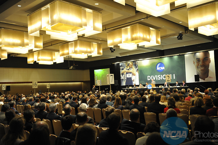 14 JAN 2010: The Division I Business Session at the 2010 NCAA Convention held at the Marriott Marquis and the Hyatt Regency in Atlanta, GA. Stephen Nowland/NCAA Photos.Pictured:.