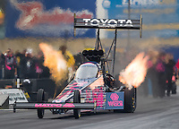 Oct 2, 2016; Mohnton, PA, USA; NHRA top fuel driver Antron Brown during the Dodge Nationals at Maple Grove Raceway. Mandatory Credit: Mark J. Rebilas-USA TODAY Sports