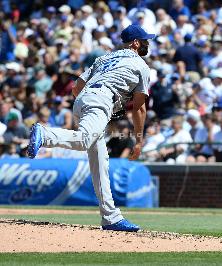 Los Angeles Dodgers Chris Hatcher (41) during a game against the Chicago Cubs on June 2, 2016 at Wrigley Field in Chicago, IL. The Cubs beat the Dodgers 7-2.