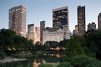 Midtown Manhattan as seen from Gapstow Bridge in New York's Central Park.