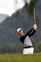 Brett Rumford (AUS) on the 12th during the 1st day of the Omega European Masters, Crans-Sur-Sierre, Crans Montana, Switzerland..Picture: Golffile/Fran Caffrey..