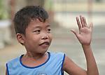 A boy in a preschool sponsored by the Kapatiran-Kaunlaran Foundation (KKFI) in Pulilan, a village in Bulacan, Philippines.<br /> <br /> KKFI is supported by United Methodist Women.