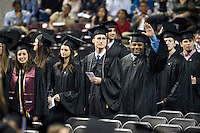 Spring 2016 MSU Graduation at Humphrey Coliseum, Saturday ceremony.<br />  (photo by Megan Bean / &copy; Mississippi State University)