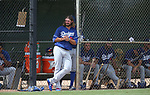 D.J. Peters plays in a minor league spring training game between the Los Angeles Dodgers and the Chicago White Sox in Glendale, Ariz., on Wednesday, March 21, 2018. <br /> Photo by Cathleen Allison/Nevada Momentum