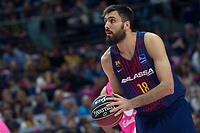 FC Barcelona Lassa Pierre Oriole during Liga Endesa match between Estudiantes and FC Barcelona Lassa at Wizink Center in Madrid, Spain. October 22, 2017. (ALTERPHOTOS/Borja B.Hojas) /NortePhoto.com