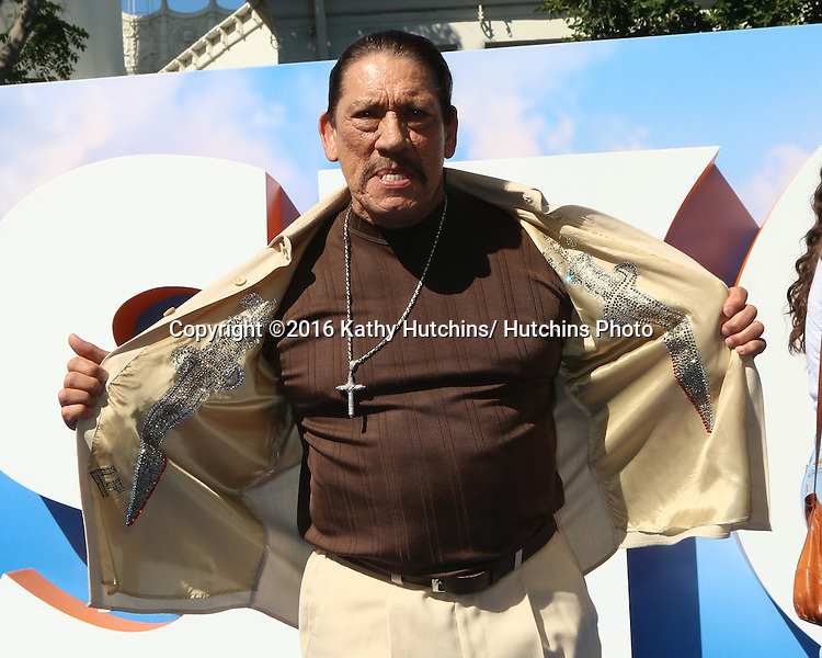 "LOS ANGELES - SEP 17:  Danny Trejo at the ""Storks"" Premiere at the Village Theater on September 17, 2016 in Westwood, CA"