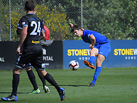 Action from the ISPS Handa Premiership football match between Team Wellington and Southern United at David Farrington Park in Wellington, New Zealand on Sunday, 11 November 2018. Photo: Dave Lintott / lintottphoto.co.nz