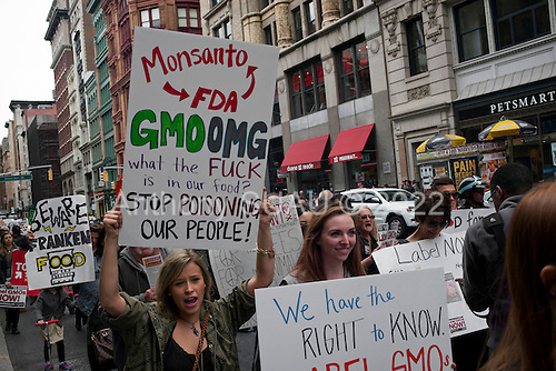 New York, New york<br /> Manhattan<br /> May 20, 2016<br /> <br /> March Against Monsanto.