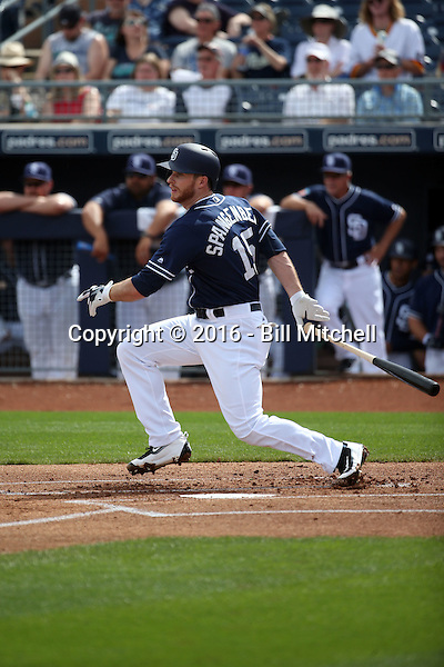 Cory Spangenberg - San Diego Padres 2016 spring training (Bill Mitchell)