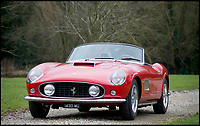 BNPS.co.uk (01202 558833)<br /> Pic: H&amp;H/BNPS<br /> <br /> 1958 Ferrari 250GT PF Coupe estimated at &pound;800,000.<br /> <br /> A stunning sports car owned by David Beckham has emerged in a sale of eleven Ferraris - making a whole football team of motors. <br /> <br /> Golden Balls owned the 360 Spider in the early noughties when he was at the peak of his powers ahead of a big money move to Real Madrid. <br /> <br /> Becks, a renowned car nut, kitted the 2001 motor out with an F1-style gearbox, carbon fibre backed racing seats, tinted windows and custom bodywork.<br /> <br /> The car's combined worth is a whopping &pound;2,200,000.