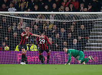 Bournemouth's Steve Cook (left) shows his frustration and Bournemouth's Aaron Ramsdale (right) looks on is frustration  after Wolverhampton Wanderers' Raul Jimenez scores his side's second goal  <br /> <br /> Photographer David Horton/CameraSport<br /> <br /> The Premier League - Bournemouth v Wolverhampton Wanderers - Saturday 23rd November 2019 - Vitality Stadium - Bournemouth<br /> <br /> World Copyright © 2019 CameraSport. All rights reserved. 43 Linden Ave. Countesthorpe. Leicester. England. LE8 5PG - Tel: +44 (0) 116 277 4147 - admin@camerasport.com - www.camerasport.com