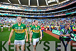 Shane Enright. Kerry players celebrate their victory over Donegal in the All Ireland Senior Football Final in Croke Park Dublin on Sunday 21st September 2014.