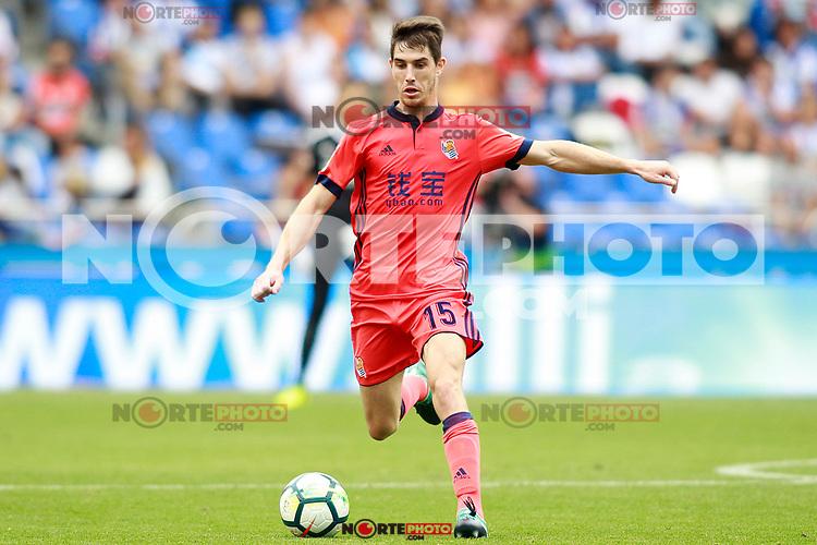 Real Sociedad's Aritz Elustondo during La Liga match. September 10,2017. (ALTERPHOTOS/Acero) /NortePhoto.com
