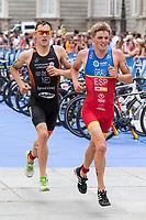 Grau of Spain during the 2017 Madrid ITU Triathlon World Cup in Madrid, May 28, 2017. Spain.. (ALTERPHOTOS/Rodrigo Jimenez) /NortePhoto.com