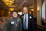 Waterbury, CT-17, October 2017-101717CM11 Social moments, from left to right Alex Steinbrick of Seymour and outgoing ambassador with David Segal with Edward Segal Corp. are photographed during the Easter Seals annual dinner at the Courtyard by Marriott in Waterbury on on Tuesday.   Christopher Massa Republican-American
