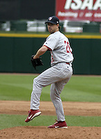 August 15, 2004:  /rp/ Geoff Geary of the Scranton-Wilkes Barre Red Barons, Class-AAA International League affiliate of the Philadelphia Phillies, during a game at Frontier Field in Rochester, NY.  Photo by:  Mike Janes/Four Seam Images