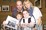 The family of Adam O'Sullivan who held a press conference last Sunday afternoon in Matt McCoy's Bar, Abbeyfeale after his apperaence on the Late Late Show on Friday night...F l-r: Billy, Adam. B l-r: Dennis, Joanne.