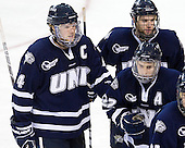 Damon Kipp (UNH - 4), Brett Kostolansky (UNH - 15), Stevie Moses (UNH - 22) - The Boston College Eagles defeated the visiting University of New Hampshire Wildcats 4-3 on Friday, January 27, 2012, in the first game of a back-to-back home and home at Kelley Rink/Conte Forum in Chestnut Hill, Massachusetts.