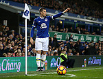 Ross Barkley of Everton takes a corner kick during the English Premier League match at Goodison Park Stadium, Liverpool. Picture date: December 13th, 2016. Pic Simon Bellis/Sportimage