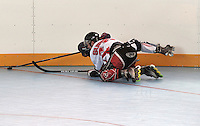 CALI - COLOMBIA - 27-07-2013: Partido de Hockey en Linea entre Suiza y Estados Unidos durante los IX Juegos Mundiales Cali, julio 27 de 2013.(Foto: VizzorImage / Luis Ramirez / Staff.) Match of Hockey in Line between Switzerland and United Sates in the IX World Games Cali July 27, 2013. (Photo: VizzorImage / Luis Ramirez / Staff.)