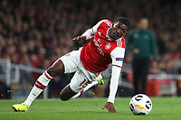 Ainsley Maitland-Niles of Arsenal loses his footing while in possession of the ball during Arsenal vs Standard Liege, UEFA Europa League Football at the Emirates Stadium on 3rd October 2019
