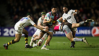 Harlequins' Alofa Alofa in action during todays match<br /> <br /> Photographer Bob Bradford/CameraSport<br /> <br /> European Rugby Challenge Cup - Harlequins v Wasps - Sunday 13th January 2018 - Twickenham Stoop - London<br /> <br /> World Copyright &copy; 2018 CameraSport. All rights reserved. 43 Linden Ave. Countesthorpe. Leicester. England. LE8 5PG - Tel: +44 (0) 116 277 4147 - admin@camerasport.com - www.camerasport.com