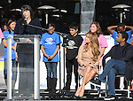 LOS ANGELES, CA. - November 30: Roxanne Spillett-BGCA President, Denzel Washington and Jennifer Lopez attend the Boys And Girls Clubs of America Announcement at Nokia Theatre L.A. Live on November 30, 2010 in Los Angeles, California.