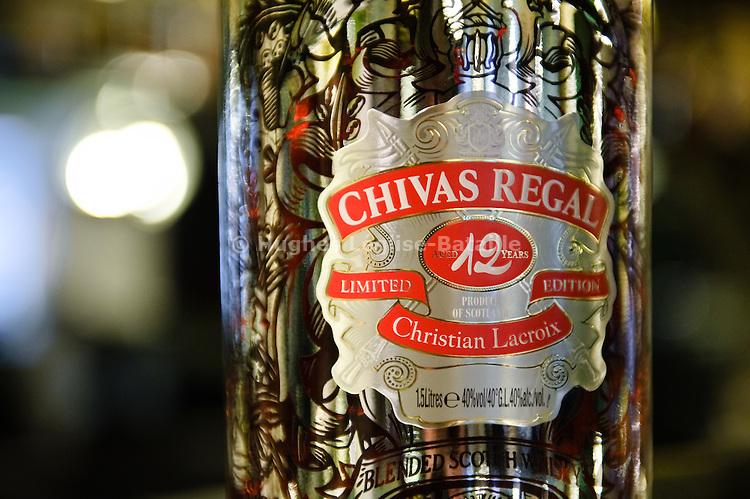 Chivas Regal bottle decorated by Christian Lacroix.