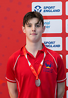Picture by Allan McKenzie/SWpix.com - 05/08/2017 - Swimming - Swim England National Summer Meet 2017 - Ponds Forge International Sports Centre, Sheffield, England - Cameron White takes silver in the mens 15yrs 50m breaststroke.