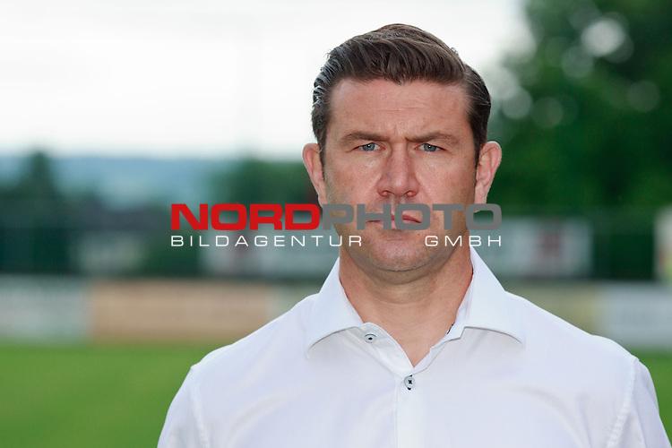 Teampraesentation F91 Duedelingen (F91 Dudelange / D&uuml;delingen) / Stade Jos Nosbaum, Duedelingen / / Fussball, Luxemburg, BGL Ligue, Saison 2014-2015 / 08.07.2014 /<br />   <br />  <br /> im Bild Sebastien Grandjean (Trainer)<br /> Portrait<br /> Foto &copy; nordphoto / Majerus
