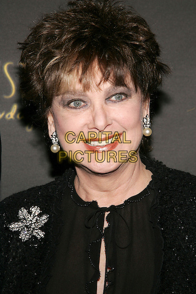 "SUZANNE PLESCHETTE.Los Angeles Opening Night of the  Tony Award Winning Broadway Show ""Billy Crystal 700 Sundays""  at  the Wilshire Theatrel, Beverly Hills, California. .Photo: William Scott/AdMedia/Capital Pictures.Ref: WS/ADM.headshot portrait dangling pearl earrings.www.capitalpictures.com.sales@capitalpictures.com.© Capital Pictures."