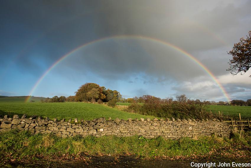 Rainbow at  Whitewell, Clitheroe, Lancashire.