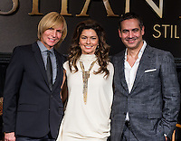 LAS VEGAS, NV - November 30 : Costumier Mark Bouwer, Shania Twain and Show Director Raj Kapoor pictured at Shania Twain  'Still The One' Residency Show Press Conference at Caesars Palace on November 30, 2012 in Las Vegas, Nevada. Shania Twain 'Still The One' premiere will be December 1, 2012 at The Colosseum at Caesars Palace  Credit: Kabik/Starlitepics/MediaPunch Inc.