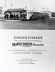 Spokane Washington and McCook Illinois: View of Swindell-Dressler brochure highlighting the Electric Furnaces designed, constructed and installed in two Alcoa plants during World War II.