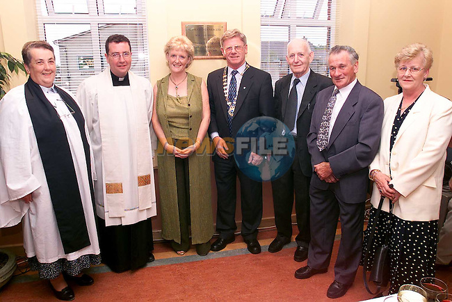 Rev. Eileen Armstrong, Fr. Martin Carley, Barbara Markey, Jim McMahon, president, Tom Gallagher, Larry Hussey and Ailish Kiernan at the offical opening of Slane Credit Union..Picture Paul Mohan Newsfile.