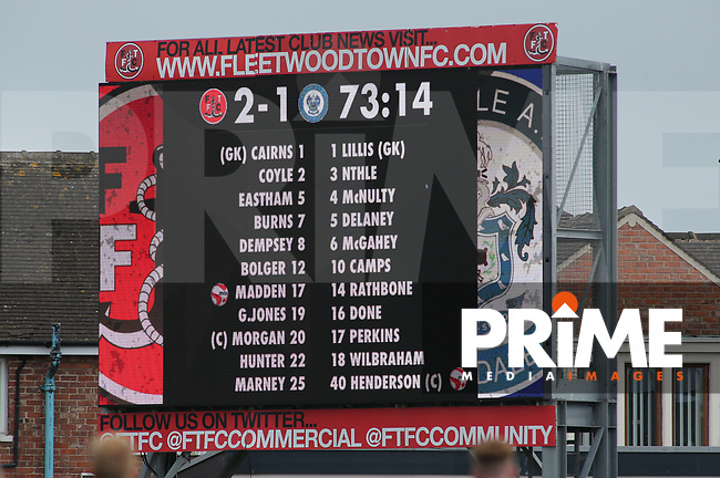 Commercial Screen Branding during the Sky Bet League 1 match between Fleetwood Town and Rochdale at Highbury Stadium, Fleetwood, England on 18 August 2018. Photo by Stephen Gaunt / PRiME Media Images.