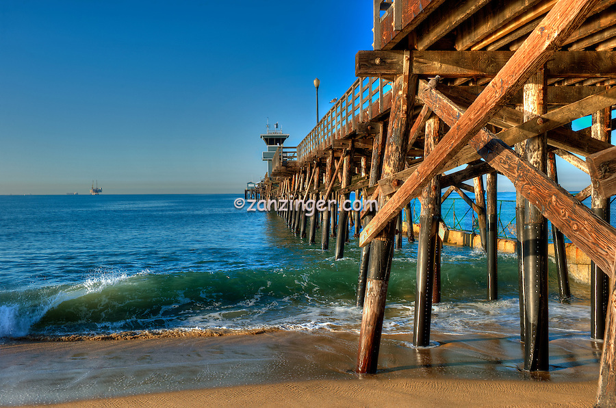 Seal Beach, CA, LA, Beach, Pier, Sunset, Orange County, Ocean Waves, Beach Community, Southern Calif. California