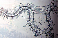 """London: Historical, 1802. David Steel's """"Chart of River Thames from London Bridge to Woolwich Warren"""". North of the Isle of Dogs. It says, """"New docks for the W. India Trade"""".   Reference only."""