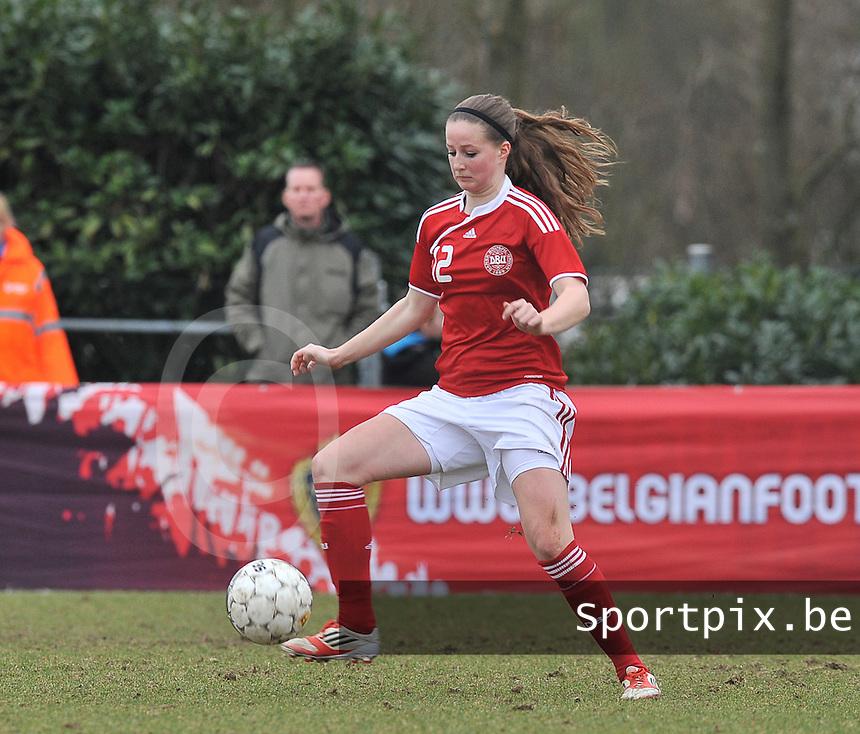Denmark U17 - Belgium U17 : Nicoline Sorensen.foto DAVID CATRY / Vrouwenteam.be
